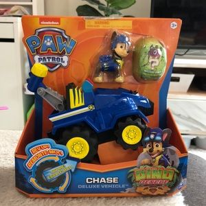 New package, Dino Paw Patrol, Chase deluxe vehicle